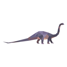 Dinosaurio braquiosaurio poligonal de color