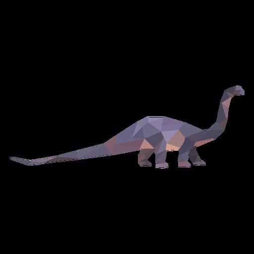 Dinossauro braquiossauro poligonal colorido