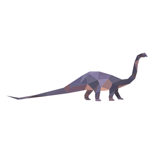 Polygonal brachiosaurus dinosaur colored