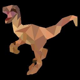 Polygonal velociraptor dinosaur colored