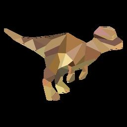Dinossauro poligonal T-rex colorido