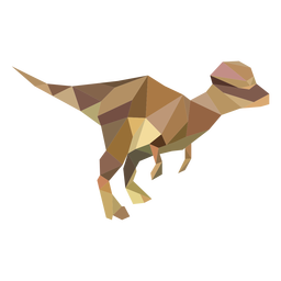 T-rex polygonal dinosaur colored