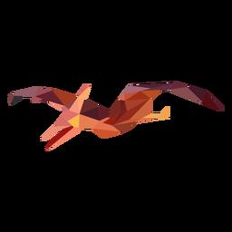 Dinossauro voador poligonal colorido