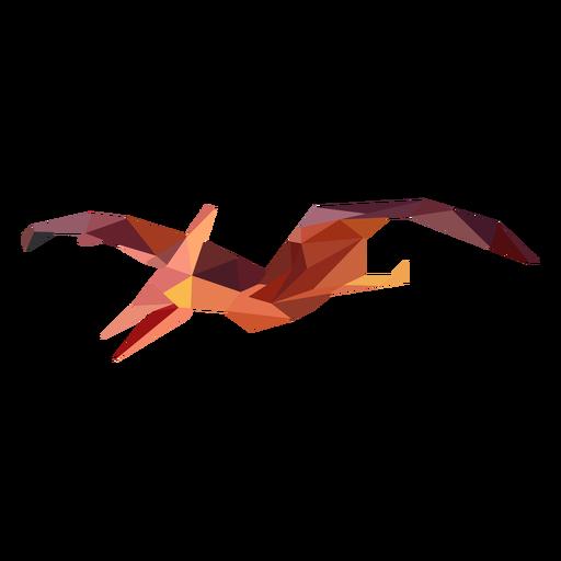Dinosaurio volador poligonal de color