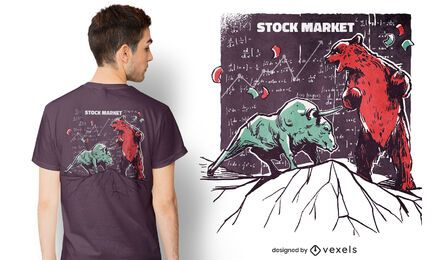 Animals stock market t-shirt design