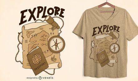 Explore o design de uma camiseta sépia