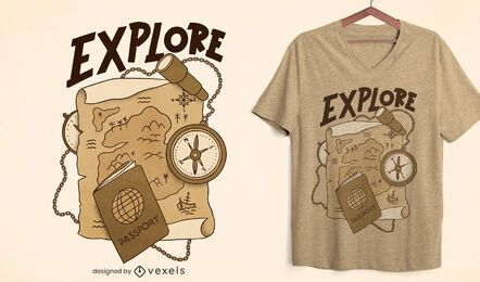 Explore sepia t-shirt design