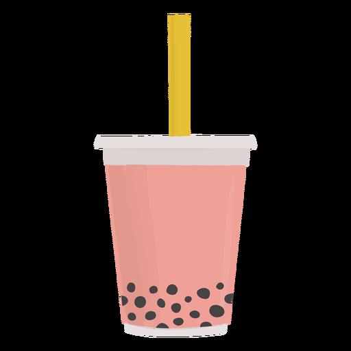 Bebida refrescante bobba plana