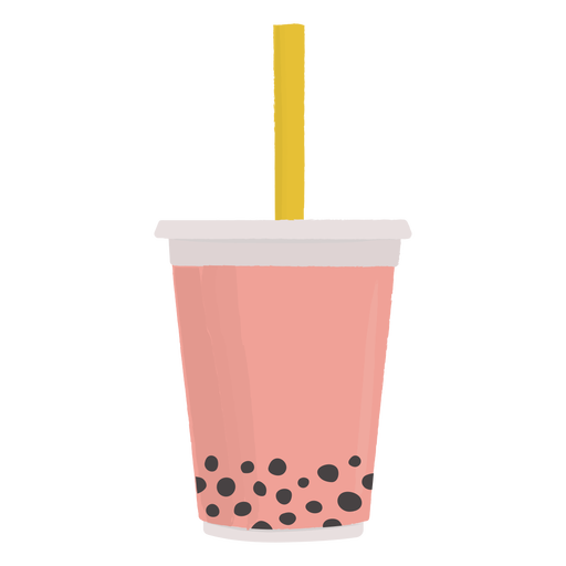 Refreshing bobba drink flat