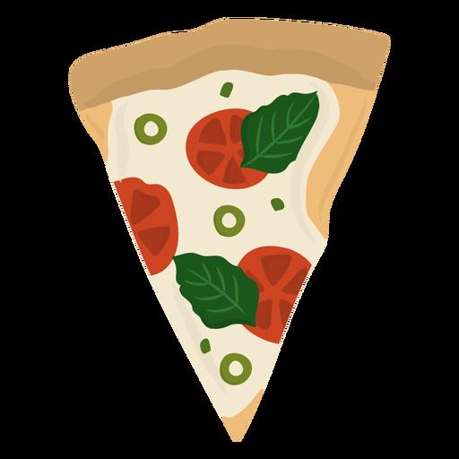 Rebanada de pizza plana
