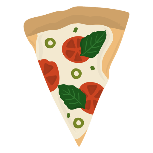 Slice of pizza flat Transparent PNG