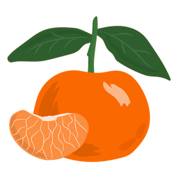 Tangerine slice flat