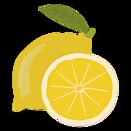 Fatia de limão plana