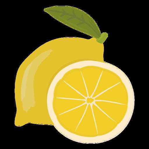 Rodaja de limón plana