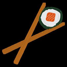 Chopsticks e sushi flat