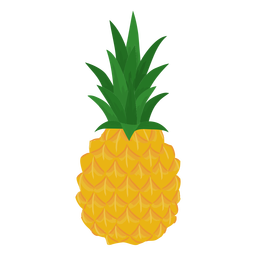 Fruit pineapple flat