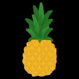 Piña de fruta plana