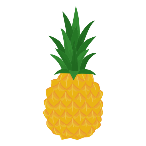 Fruit pineapple flat Transparent PNG