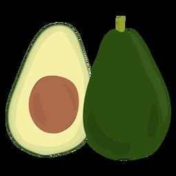 Avocado slice flat