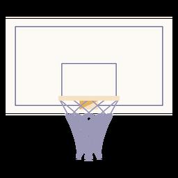 Basketball hoop flat