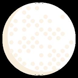 Golf ball flat