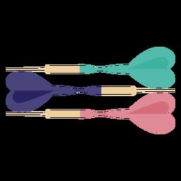 Set of darts flat