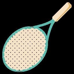 Plano de raqueta de tenis
