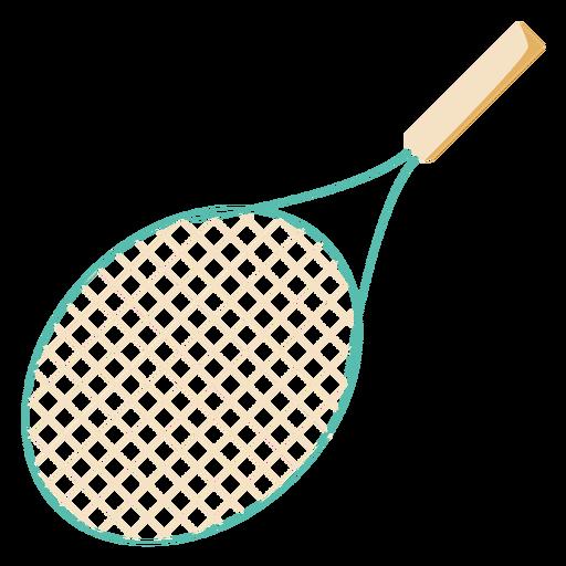Tennis raquet flat