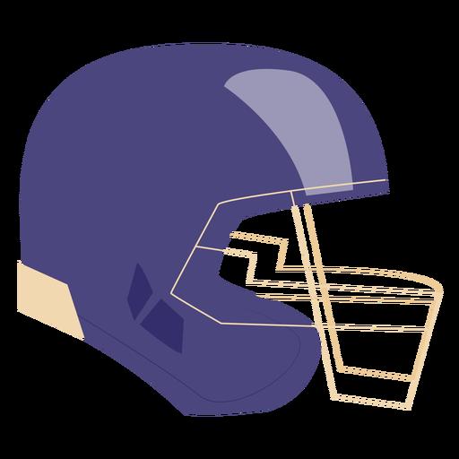 Flat helmet football