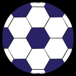 Balón de fútbol grande plano
