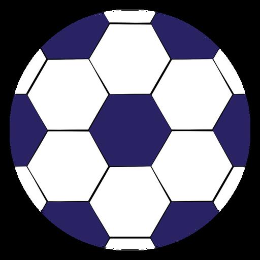 Balón de fútbol grande plano Transparent PNG
