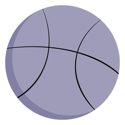 Grande bola de basquete plana