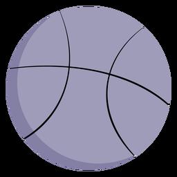 Pelota de baloncesto grande plana