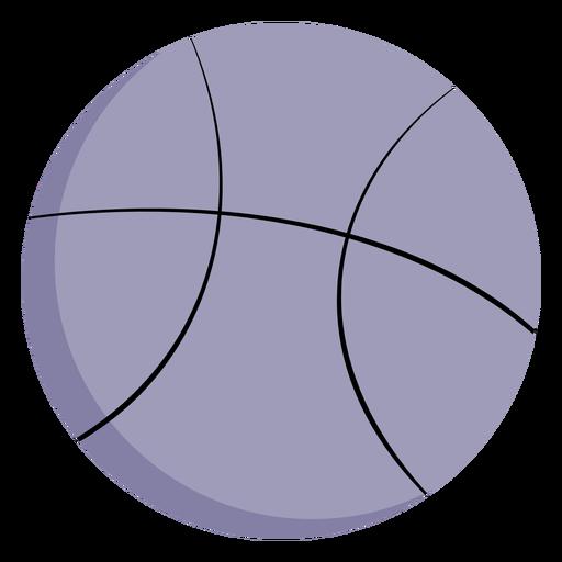 Pelota de baloncesto grande plana Transparent PNG
