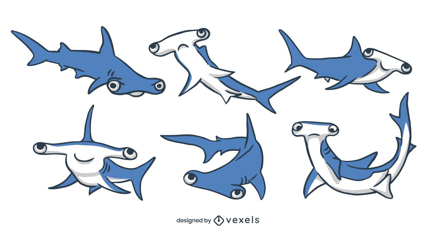 Conjunto de tiburón martillo