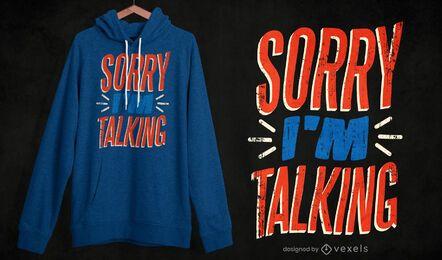 Desculpe, estou falando de design de camiseta