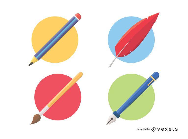 Herramientas de dibujo y pintura.
