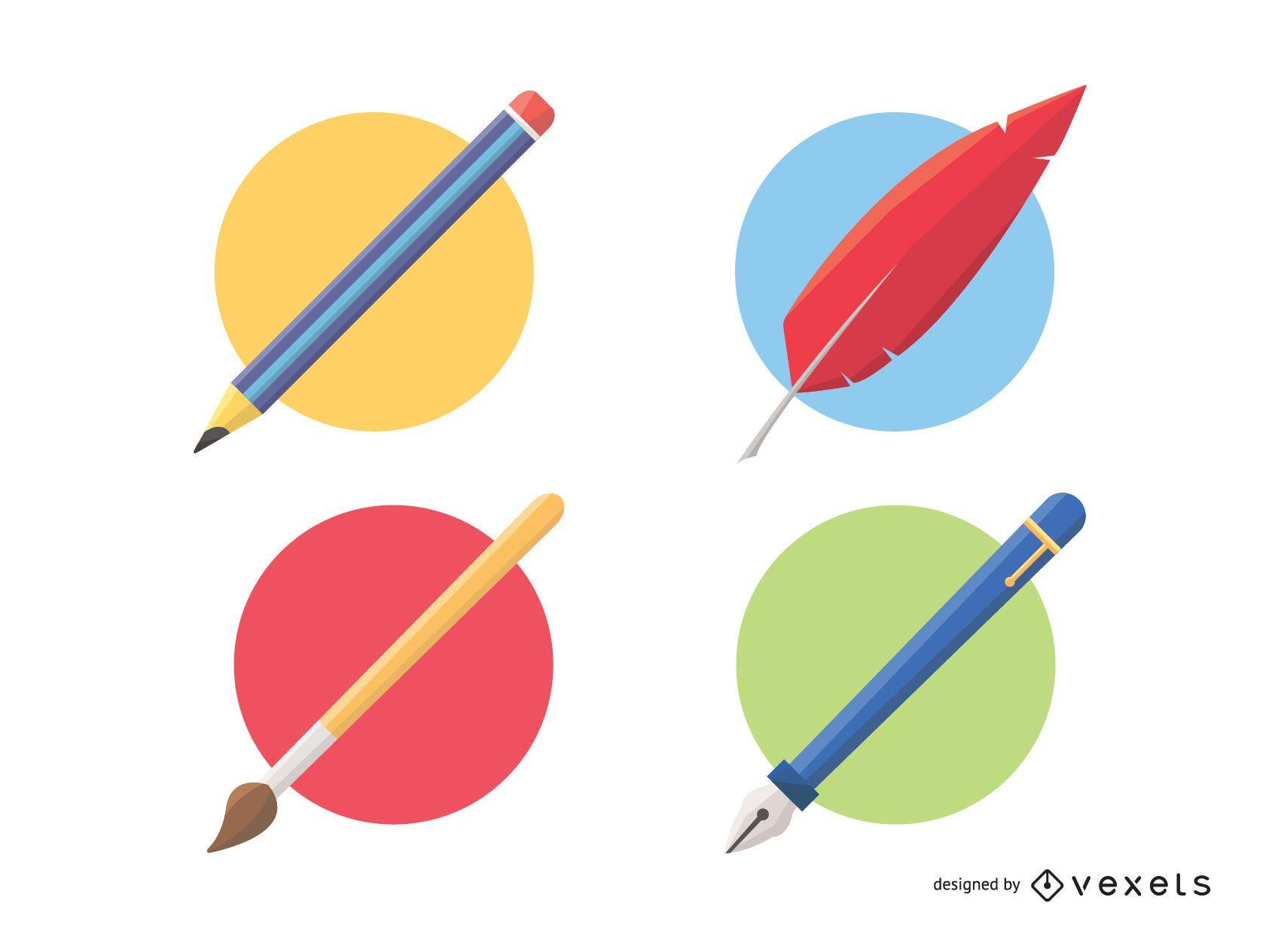 Herramientas de dibujo y pintura