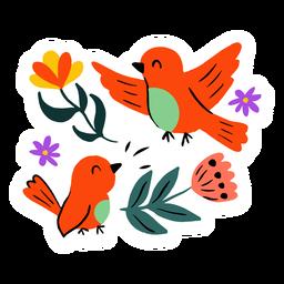 Birds in spring flat