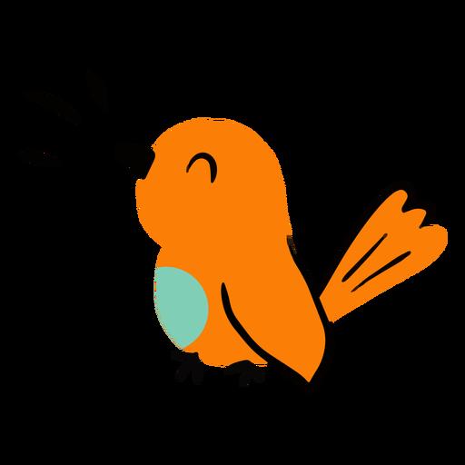 Pássaro cantando plano