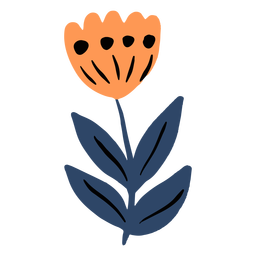 Orange tulip flat