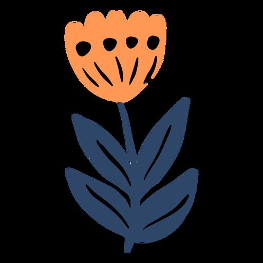 Tulipán natural plano