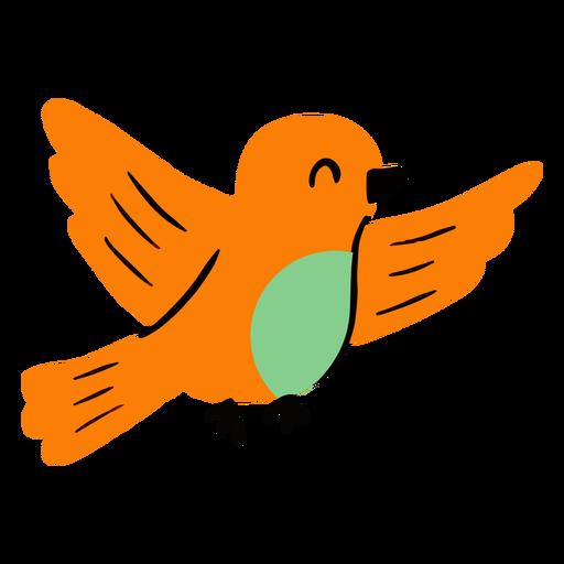 Pájaro volador plano