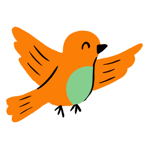 Plano de pássaro voando