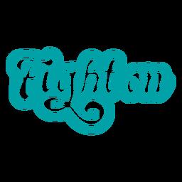 Lucha en letras vintage