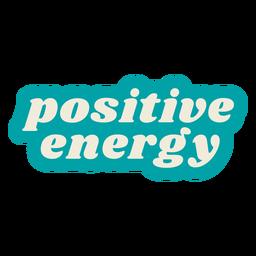 Vintage de letras de energía positiva