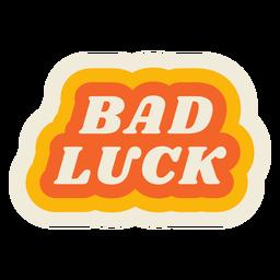 Letras de mala suerte vintage