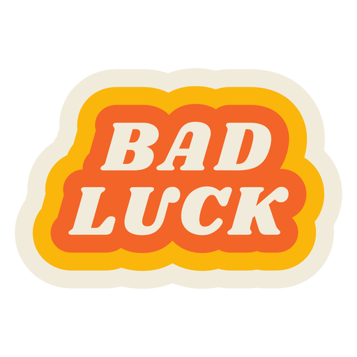 Bad luck lettering vintage