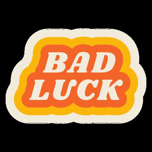 Letras de mala suerte vintage Transparent PNG