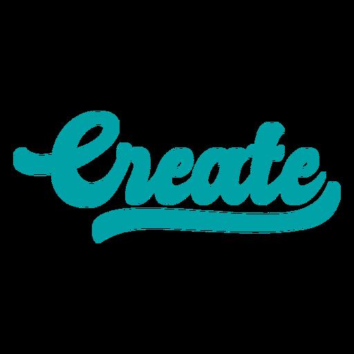 Create lettering vintage